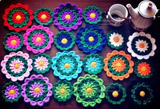 色とりどりの花のグループの写真・画像素材[933085]