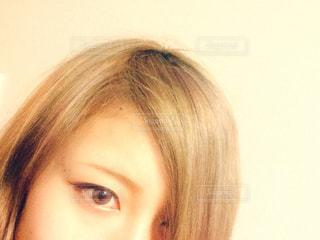 金髪とカラコンの写真・画像素材[767080]
