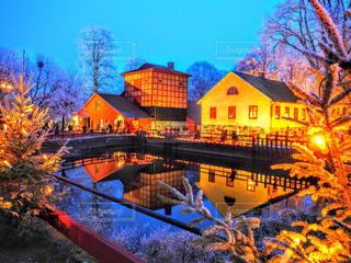 スウェーデンのクリスマスマーケットの写真・画像素材[793891]