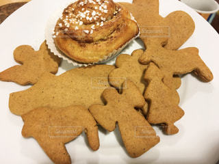 海外でジンジャークッキーの写真・画像素材[1584534]