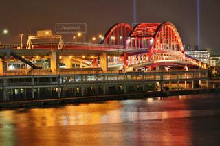 神戸大橋の夜景の写真・画像素材[778018]