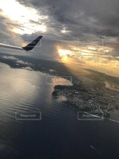 飛行機からの景色の写真・画像素材[770487]