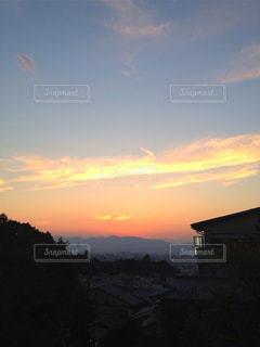夕暮れ時の京都の写真・画像素材[770462]