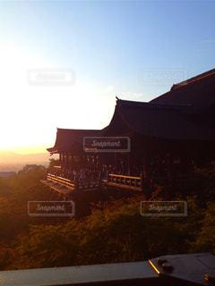 夕暮れ時の京都の写真・画像素材[770464]