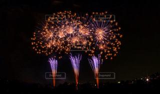 夜空の花火の写真・画像素材[1457552]