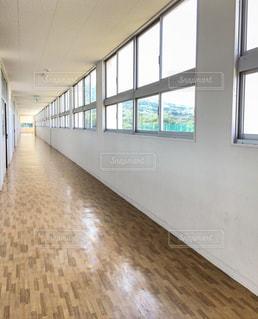 学校の廊下の写真・画像素材[771917]