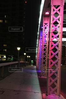 ピンクの橋の写真・画像素材[785385]
