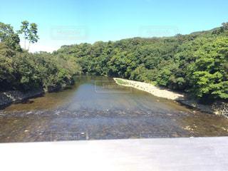 水の体を流れる川の写真・画像素材[781915]