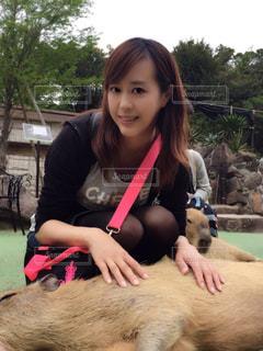 伊豆高原でカピバラとの写真・画像素材[780666]