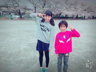 桜満開、卒業シーズンの写真・画像素材[1244942]