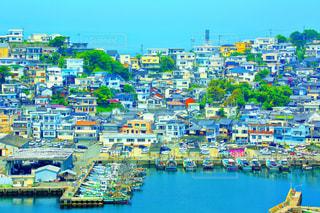 地中海風な和歌山の港の写真・画像素材[1012993]