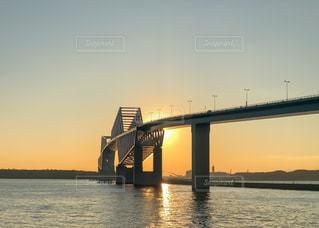 夕暮れの東京ゲートブリッジの写真・画像素材[3188844]