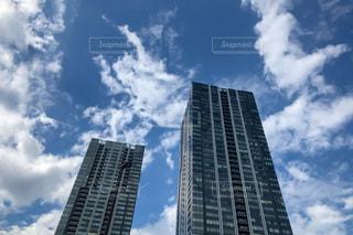 木々に囲まれる高層マンションの写真・画像素材[3508631]