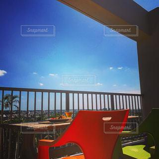 晴れた日のベランダランチの写真・画像素材[775014]
