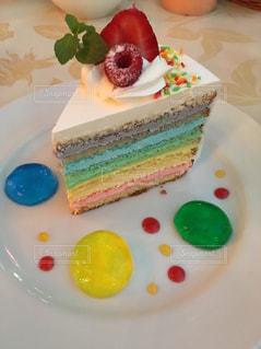 レインボーケーキの写真・画像素材[777575]