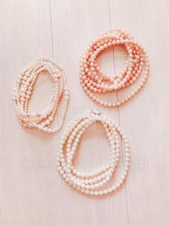 真珠のネックレスの写真・画像素材[873027]