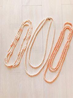 真珠のネックレスの写真・画像素材[873028]