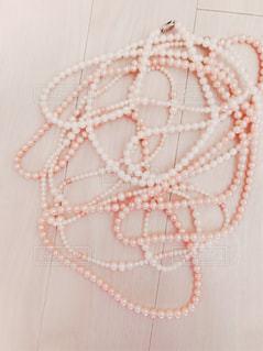 真珠のネックレスの写真・画像素材[873029]