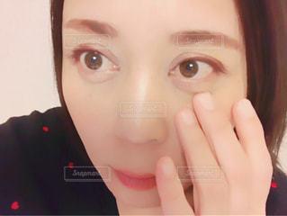 女性の目アップの写真・画像素材[928991]