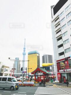 浅草駅から見える景色の写真・画像素材[987655]