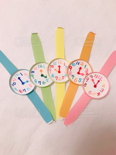 紙コップの腕時計の写真・画像素材[1109167]