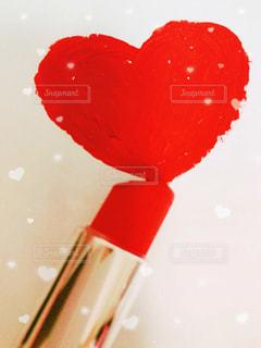 バレンタイン ハート口紅の写真・画像素材[2923296]
