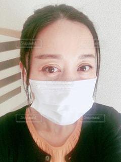 マスク女性の写真・画像素材[2967595]