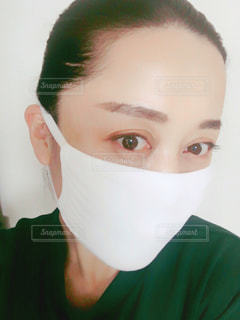 マスク女性の写真・画像素材[3058108]