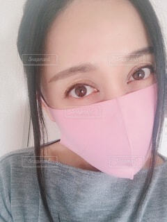 マスク女性の写真・画像素材[3941393]