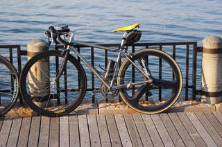 海辺とロードバイクの写真・画像素材[775628]