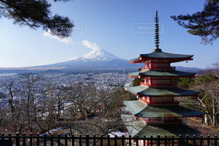 富士山と五重塔の写真・画像素材[1025612]