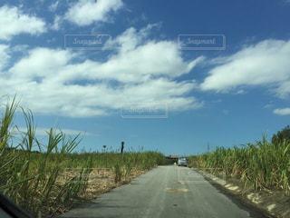道の端にサインの写真・画像素材[856599]