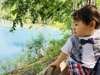 青い池と男の子 - No.779119