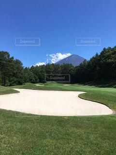 ゴルフ場からの富士山の写真・画像素材[777267]
