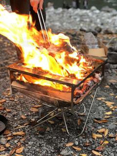 焚き火の写真・画像素材[874965]