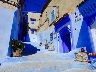 モロッコ青い町の写真・画像素材[777275]