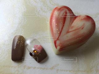 チョコとネイルの写真・画像素材[778047]