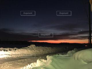 雪国の朝の写真・画像素材[969112]