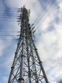 背の高い鉄塔を下からの写真・画像素材[778681]