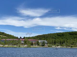 白樺湖の写真・画像素材[4570999]