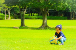 野球場の少年の写真・画像素材[781024]