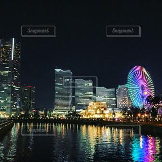 みなとみらい 万国橋からの夜景の写真・画像素材[780203]