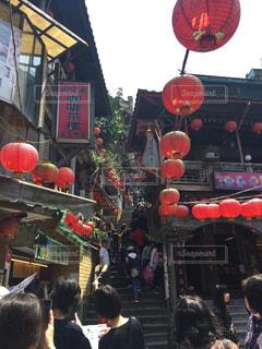 台北、九份の街の写真・画像素材[791503]