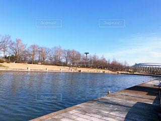 公園の水面の写真・画像素材[1090208]