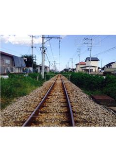 鋼のトラックの列車の写真・画像素材[785664]