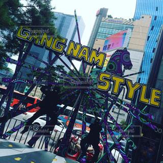 韓国にて。江南のフォトスポットの写真・画像素材[784495]