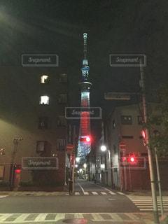 街の通りに信号機の写真・画像素材[782830]