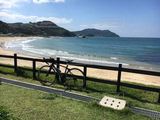 海と自転車の写真・画像素材[784075]