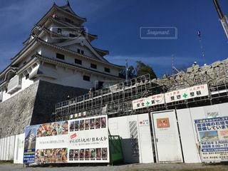 石垣工事中の唐津城の写真・画像素材[842326]