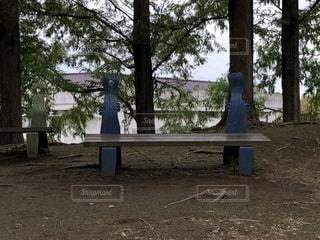 ムーミン谷のベンチの写真・画像素材[1529656]